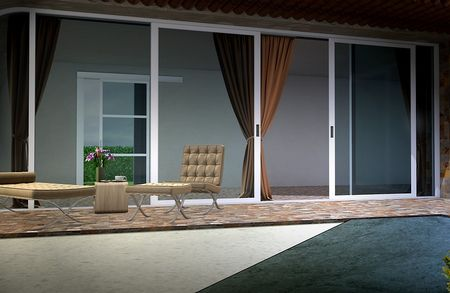 Rénovation bâtiment : véranda en Aluminium